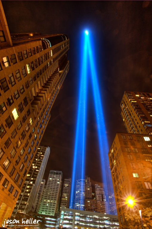 Sept 11th NYC Blue Lights