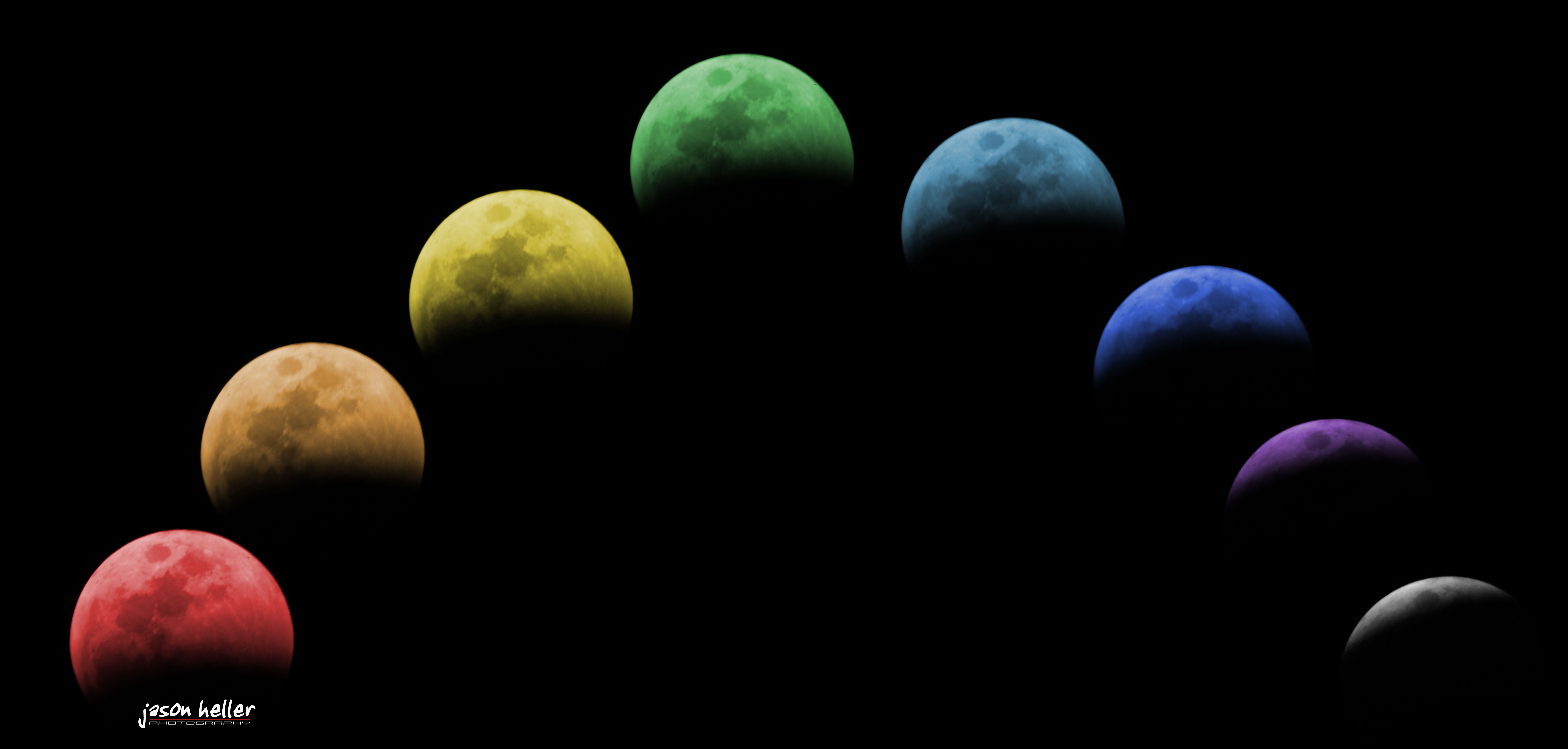 Different Colors of Moons - Pics about space